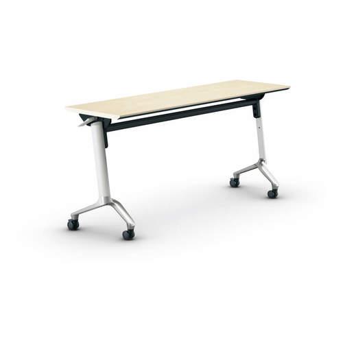 コクヨ KOKUYO ミーティングテーブル CONFEST コンフェスト フラップテーブル 会議用テーブル 天板フラップ式 スタンダードタイプ/パネルなし/棚なし W1500×D450×H720mm KT-1302M