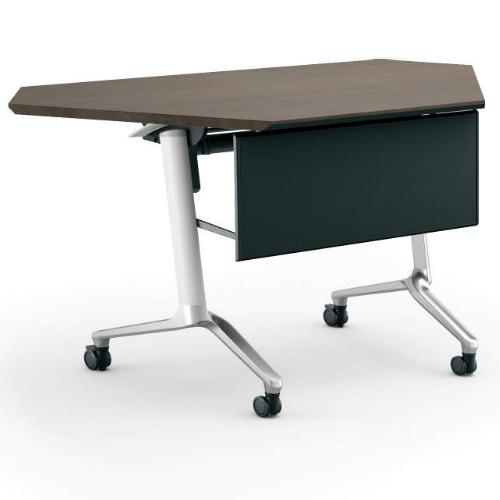 コクヨ KOKUYO ミーティングテーブル CONFEST コンフェスト フラップテーブル 会議用テーブル 天板フラップ式 スタンダードタイプ/パネル付きコーナータイプ/棚付き D600×H720mm KT-PSC1301M