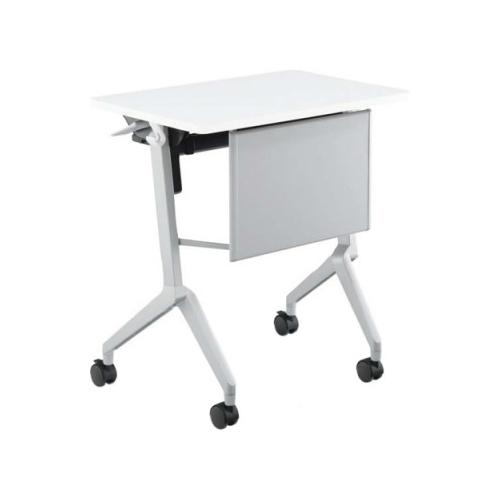コクヨ  研修施設用テーブル リーフラインS(Leafline/S) フラップテーブル 棚付き・パネル付き:Aスクエア天板/Bグループ天板 KT-PS126