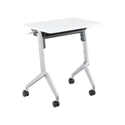 コクヨ KOKUYO ミーティングテーブル 研修施設用テーブル リーフラインS(Leafline/S) フラップテーブル 棚付き・パネルなし:Aスクエア天板/Bグループ天板 W650×D450×H720mm KT-S126