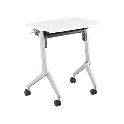 コクヨ 研修施設用テーブル リーフラインS(Leafline/S) フラップテーブル 棚付き・パネルなし:Aスクエア天板/Bグループ天板 KT-S126
