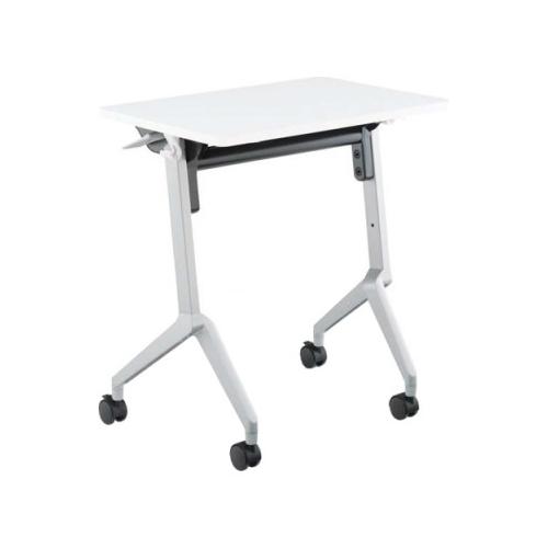 コクヨ KOKUYO ミーティングテーブル 研修施設用テーブル リーフラインS(Leafline/S) フラップテーブル 棚なし・パネルなし:Aスクエア天板/Bグループ天板 W650×D450×H720mm KT-126