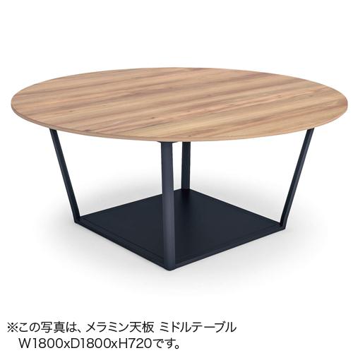 コクヨ ミーティングテーブル リージョン(Region) ボックス脚 円形テーブル/ミドルテーブル/リノリウム天板 LT-RGC18M