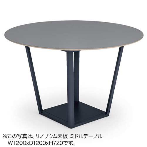 コクヨ KOKUYO ミーティングテーブル Region リージョン 会議用テーブル ボックス脚 円形テーブル/ミドルテーブル/メラミン天板 W1200×D1200×H720mm LT-RGC12M