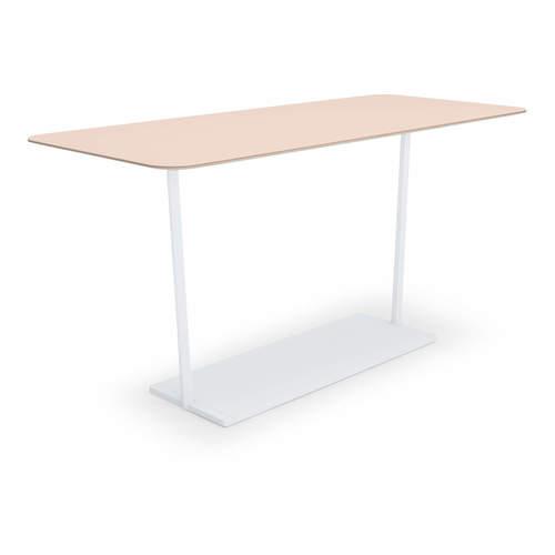 コクヨ KOKUYO ミーティングテーブル Region リージョン 会議用テーブル T字脚 角形テーブル/ミドルハイテーブル/リノリウム天板 W2100×D900×H904mm LT-RG219MH