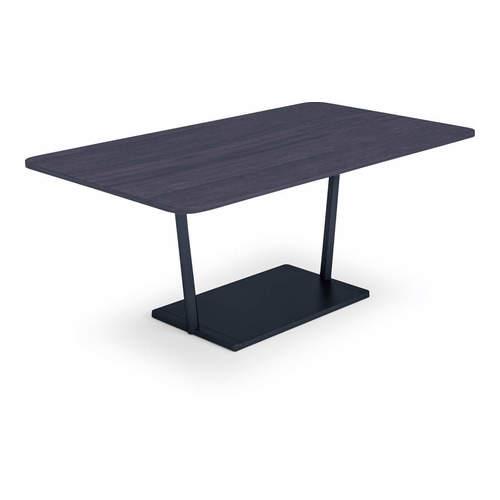 コクヨ KOKUYO ミーティングテーブル Region リージョン 会議用テーブル T字脚 角形テーブル/ミドルローテーブル/メラミン天板 W1800×D900×H620mm LT-RG189ML
