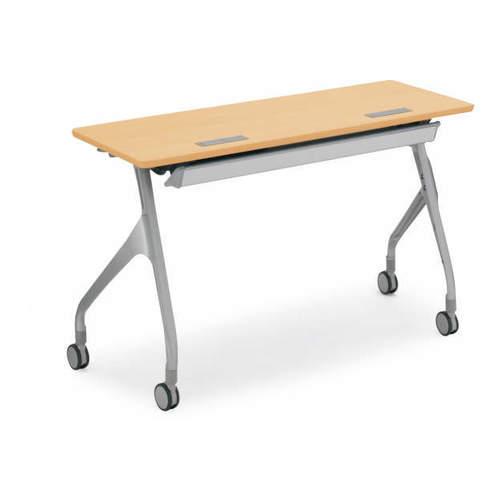 コクヨ EPIPHY エピファイ 会議用テーブル 天板フラップ式 直線タイプ/パネルなし/配線キャップなし W1200×D450×H720mm KT-S1004