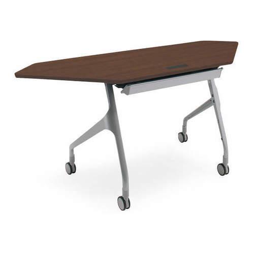 コクヨ EPIPHY エピファイ 会議用テーブル 天板フラップ式 コーナータイプ/パネルなし/配線キャップ付き W1565×D600×H720mm KT-CW1001