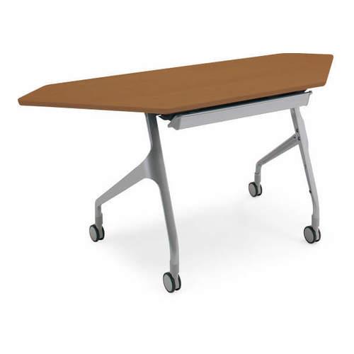 コクヨ EPIPHY エピファイ 会議用テーブル 天板フラップ式 コーナータイプ/パネルなし/配線キャップなし W1565×D600×H720mm KT-C1001