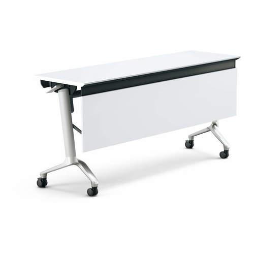 コクヨ KOKUYO ミーティングテーブル CONFEST コンフェスト フラップテーブル 会議用テーブル 天板フラップ式 ハイスペックタイプ/パネル付き/棚なし W2100×D600×H720mm KT-P1309H