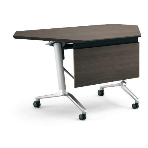 コクヨ KOKUYO ミーティングテーブル CONFEST コンフェスト フラップテーブル 会議用テーブル 天板フラップ式 ハイスペックタイプ/パネル付コーナータイプ/棚付き D600×H720mm KT-PSC1301H