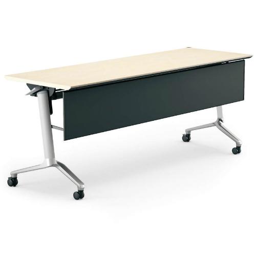 コクヨ KOKUYO ミーティングテーブル CONFEST コンフェスト フラップテーブル 会議用テーブル 天板フラップ式 スタンダードタイプ/パネル付き/棚なし W1800×D600×H720mm KT-P1301M