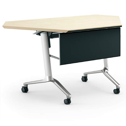 コクヨ KOKUYO ミーティングテーブル CONFEST コンフェスト フラップテーブル 会議用テーブル 天板フラップ式 スタンダードタイプ/パネル付きコーナータイプ/棚なし D600×H720mm KT-PC1301M