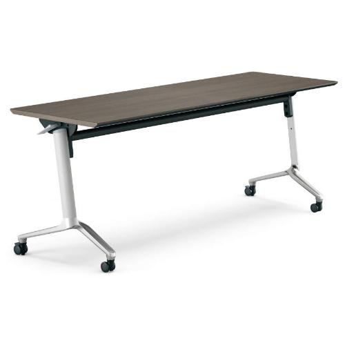 コクヨ KOKUYO ミーティングテーブル CONFEST コンフェスト フラップテーブル 会議用テーブル 天板フラップ式 スタンダードタイプ/パネルなし/棚なし W1800×D600×H720mm KT-1301M