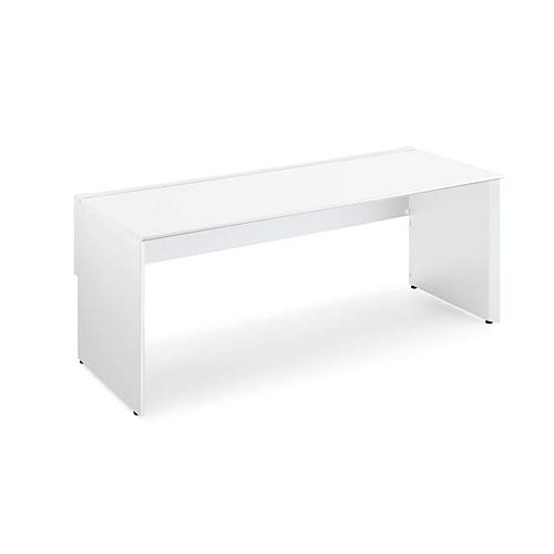コクヨ KOKUYO WorkVista ワークヴィスタ オフィスデスク パーソナルテーブル シングル配線カバータイプ D800 片面タイプ ホワイト/フラットシルバー ホワイト/ホワイトナチュラル/ラスティックミディアム/アッシュブラウン W1500×D825×H720mm SD-VD158PK
