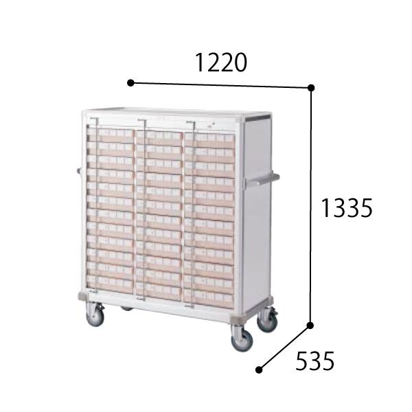 コクヨ KOKUYO 医療施設用家具 スタッフステーション メディレージ 与薬カート(36床用) W1220×D535×H1335mm HP-MCTY336