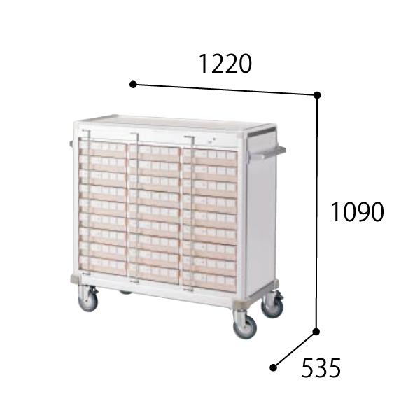 コクヨ KOKUYO 医療施設用家具 スタッフステーション メディレージ 与薬カート(27床用) W1220×D535×H1090mm HP-MCTY327