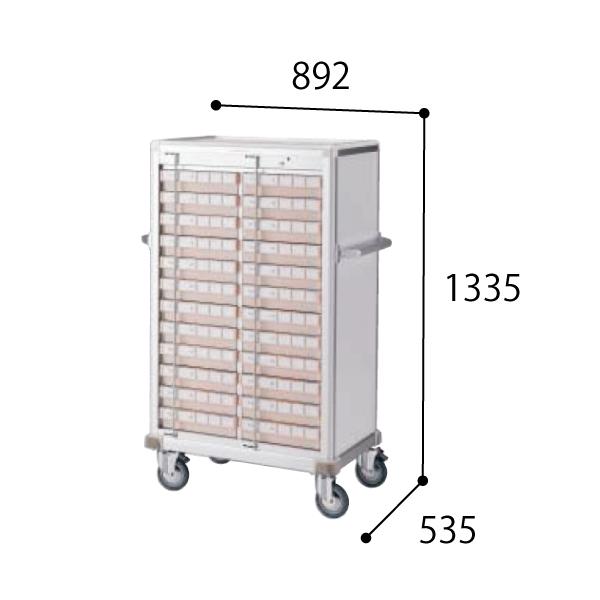 コクヨ KOKUYO 医療施設用家具 スタッフステーション メディレージ 与薬カート(24床用) W892×D535×H1335mm HP-MCTY224