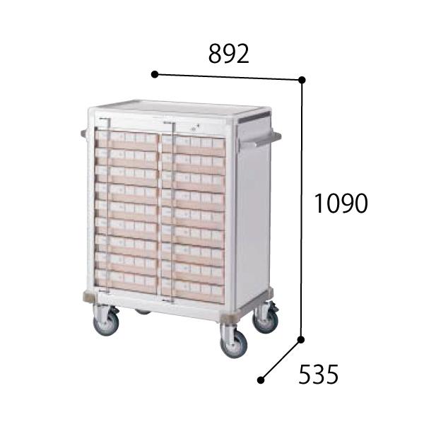 コクヨ KOKUYO 医療施設用家具 スタッフステーション メディレージ 与薬カート(18床用) W892×D535×H1090mm HP-MCTY218
