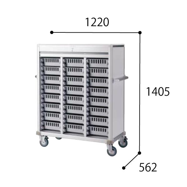 コクヨ KOKUYO 医療施設用家具 スタッフステーション メディレージ 注射薬カート(24床用) W1220×D562×H1405mm HP-MCTC324