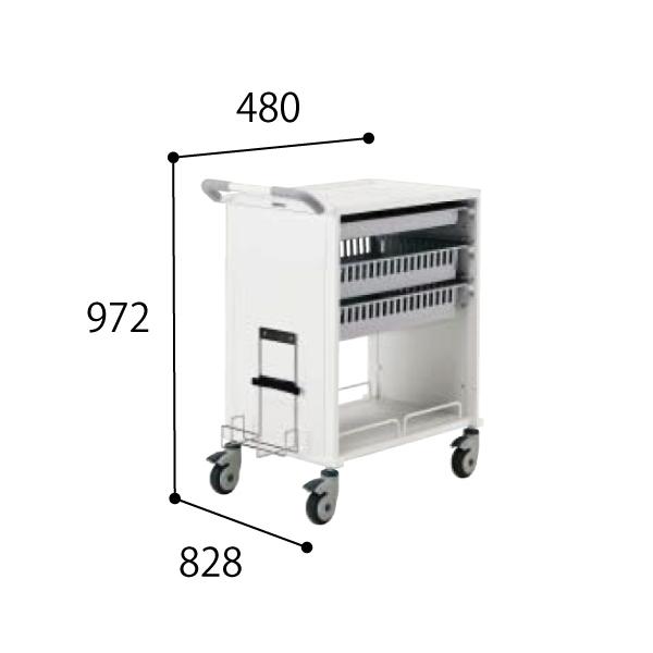 コクヨ KOKUYO 医療施設用家具 スタッフステーション メディレージ 包帯交換カート W480×D828×H972mm HP-MCTH6409