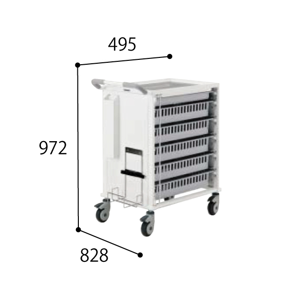 コクヨ KOKUYO 医療施設用家具 スタッフステーション メディレージ 麻酔カート W495×D828×H972mm HP-MCTM6409G