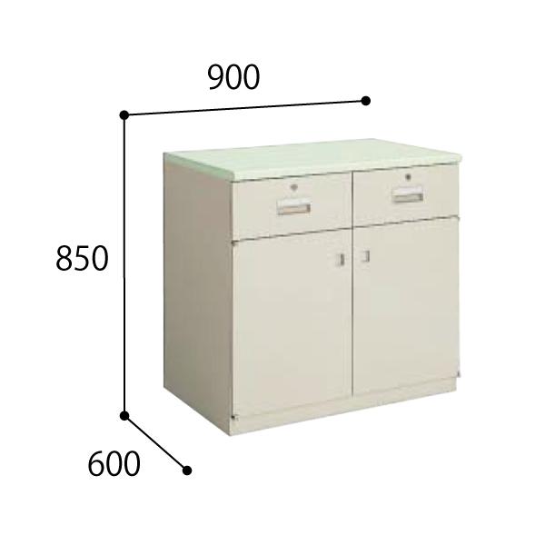 コクヨ KOKUYO 医療施設用家具  ユニット薬品棚 下置きユニット 調剤専用台 W900×D600×H850mm HP-UD7F1N3