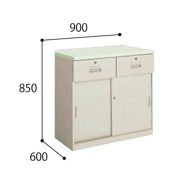 コクヨ KOKUYO 医療施設用家具 ユニット薬品棚 下置きユニット 調剤専用台 W900×D600×H850mm HP-UD9F1N3