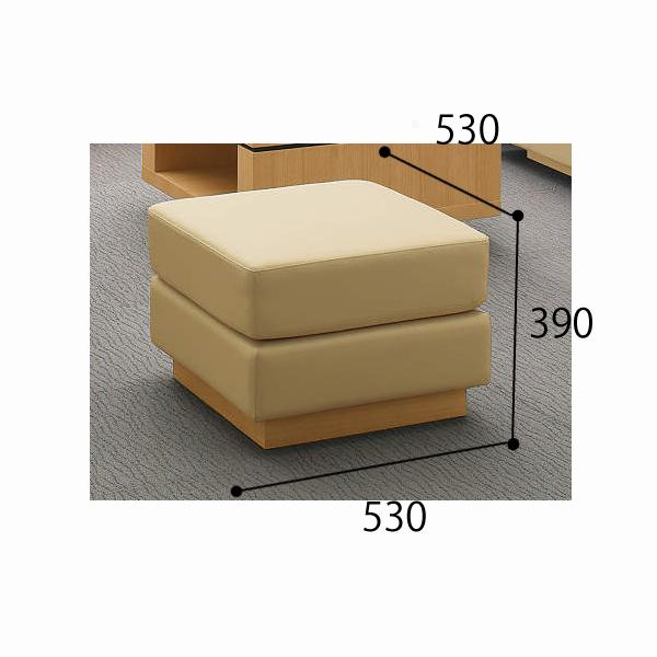 コクヨ KOKUYO 応接セット セミ・オーダーシステム 応接イス フェリー スツール 張り地コードH・J W530×D530×H390mm CE-H121W31/CE-H121W35/CE-H121W39/CE-J121W31/CE-J121W35/CE-J121W39