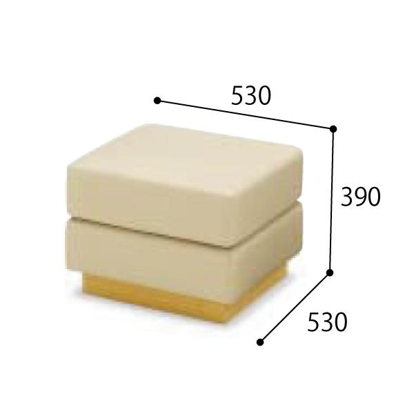 コクヨ 応接セット セミ・オーダーシステム 応接イス フェリー スツール 張り地コードD・E W530×D530×H390mm CE-D121/CE-E121