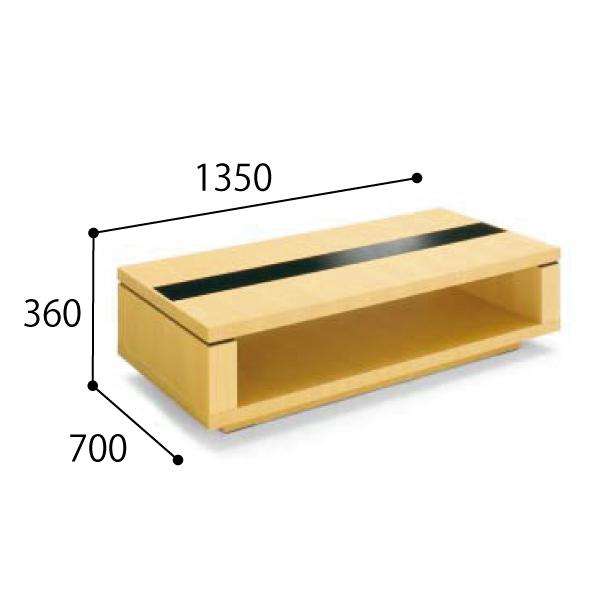 コクヨ KOKUYO 応接セット NT-150シリーズ 応接用センターテーブル W1350×D700×H360mm NT-150W31/NT-150W35/NT-150W39