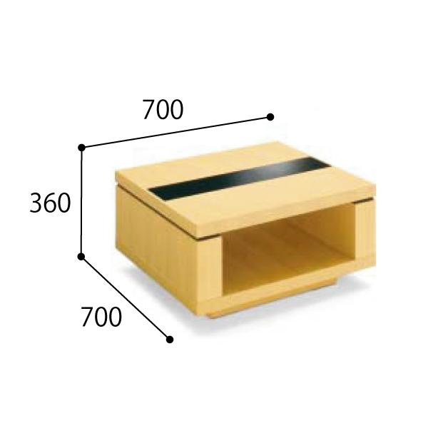 コクヨ KOKUYO 応接セット NT-150シリーズ 応接コーナーテーブル W700×D700×H360mm NT-155W31/NT-155W35/NT-155W39