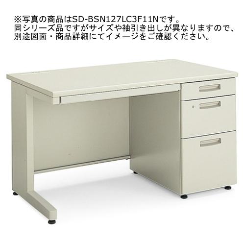 コクヨ BS+デスクシステム 片袖デスク 3段 W1600×D700×H700 (3段V3) SD-BSN167LV3F11N3