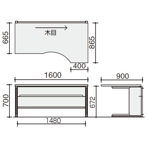 フレスコデスク クリエイティブテーブル サイズ
