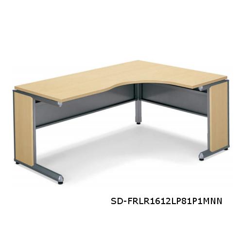コクヨ フレスコデスクシステム L型テーブル ショートリターン W1600xD1200xH700 SD-FRLL1612LP81P1MNN/SD-FRLR1612LP81P1MNN