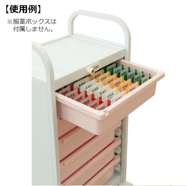 ミヤナリ 薬剤保管庫 メディロック MLG投薬カート ダイヤル錠 深型6段 MLGW-106D