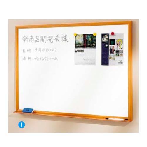 内田洋行 ウチダ UCHIDA 木目フレームボード 3×4型 ホワイトボード 1210×88×911mm 6-190-2504 ▽