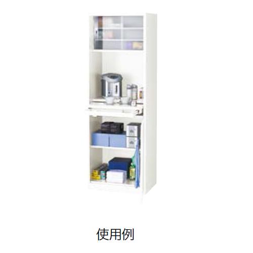 ナイキ オフィスキッチン クリアーホワイト W600×D450×H1800mm OK13-W