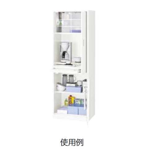 ナイキ オフィスキッチン クリアーホワイト W600×D450×H1800mm OK14-W