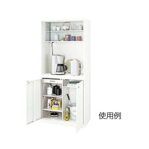 ナイキ オフィスキッチン(ビジネスキッチン)  クリアーホワイト W800×D450×H1810mm OK6-W