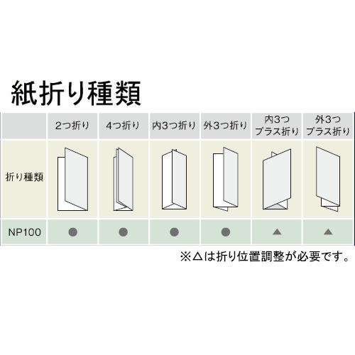 ニッポー 自動紙折り機 NP110 紙折り種類