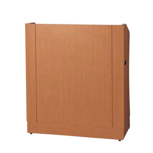 ナイキ 講演台 折りたたみ式 パーチ木目色 W900×D450×H1020 FS-13-MB