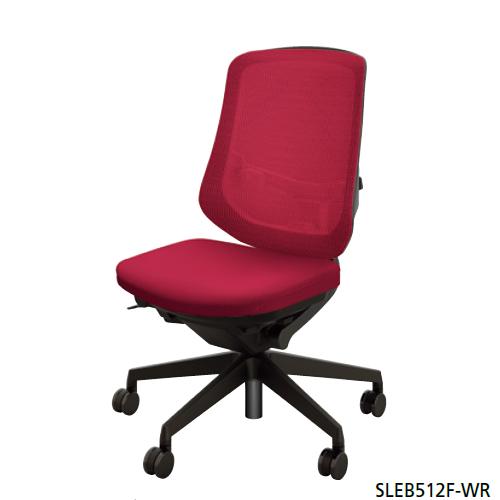 ナイキ NAIKI オフィスチェア SLE型 Selift セリフトチェア(ブラック) ミドルバック 座布張り/背メッシュ張り 肘なし SLEB512F