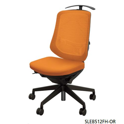 ナイキ オフィスチェア SLE型 Selift セリフトチェア(ブラック) ミドルバック 座布張り/背メッシュ張り 肘なし ハンガー付 SLEB512FH