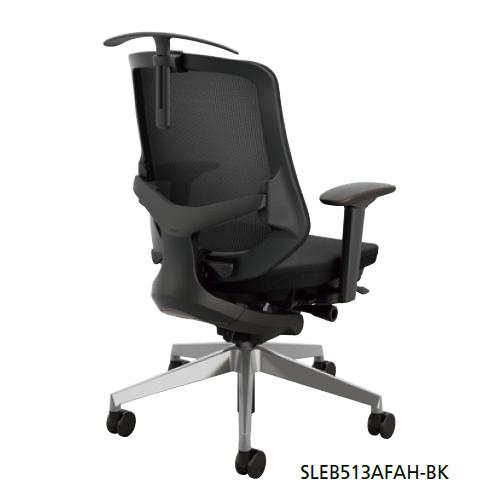 ナイキ  オフィスチェア SLE型 Selift セリフトチェア(アルミ脚) ミドルバック 座布張り/背メッシュ張り 可動肘 ハンガー付 SLEB513AFAH