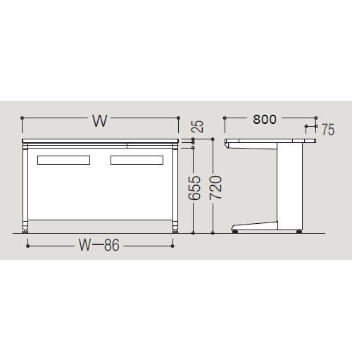 オカムラ アドバンス-S D800 平デスク サイズ