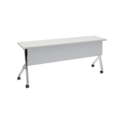 オカムラ フラプターテーブル サイドフォールディングテーブル 棚板付 幕板付 81F1CA-MG99