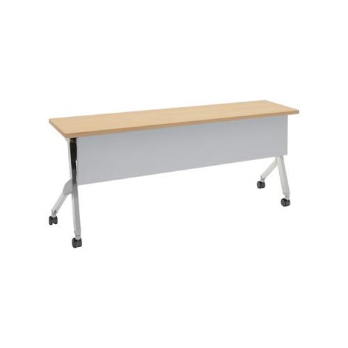 オカムラ フラプターテーブル サイドフォールディングテーブル 棚板付 幕板付 81F1CA-MK37