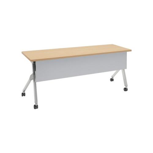 オカムラ フラプターテーブル サイドフォールディングテーブル 棚板付 幕板付 81F1CB-MK37