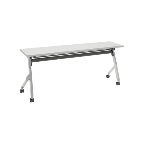 オカムラ フラプターテーブル サイドフォールディングテーブル 棚板付 幕板なし 81F1CX-MG99